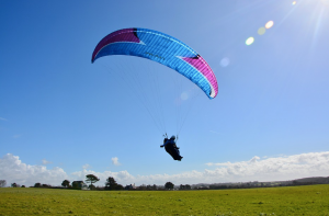 Paragliding with Green Dragons