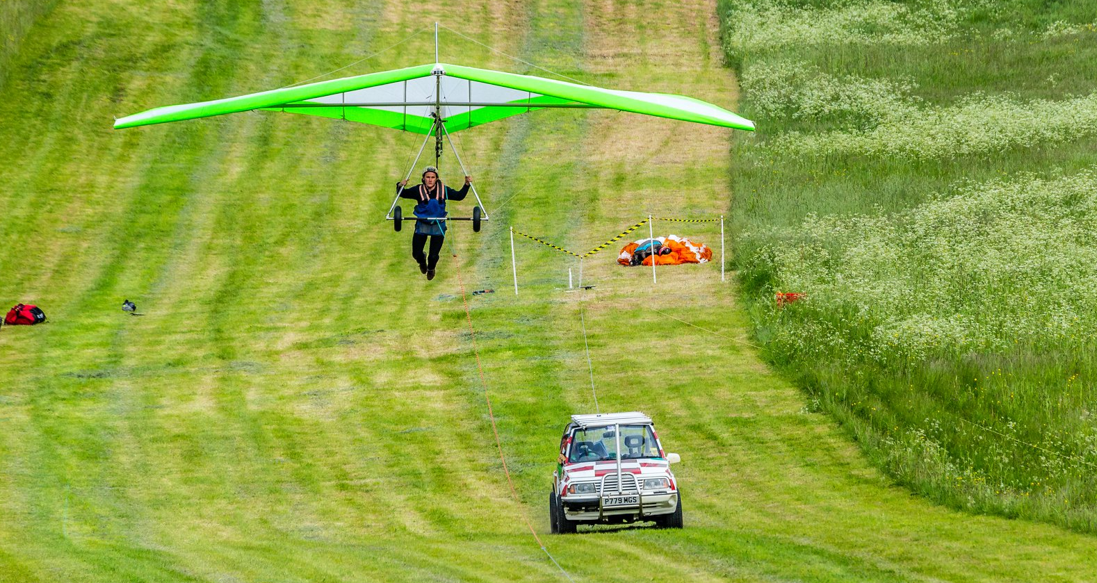 BHPA Hang glider training with Green dragons